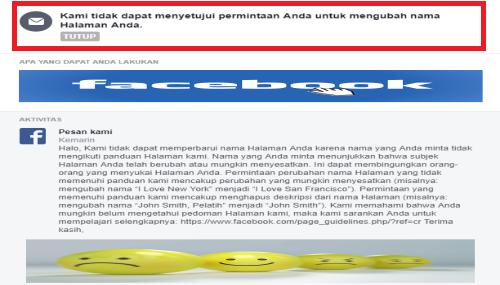 cara mengatasi tidak bisa ganti nama fanspage facebook
