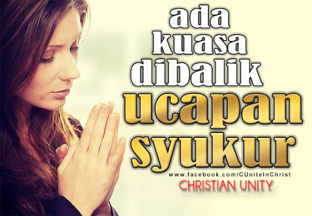 Kuasa Doa Dan Ucapan Syukur