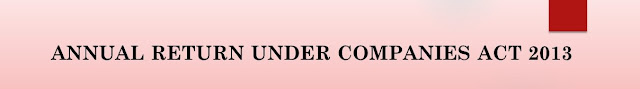 ANNUAL RETURN UNDER COMPANIES ACT 2013