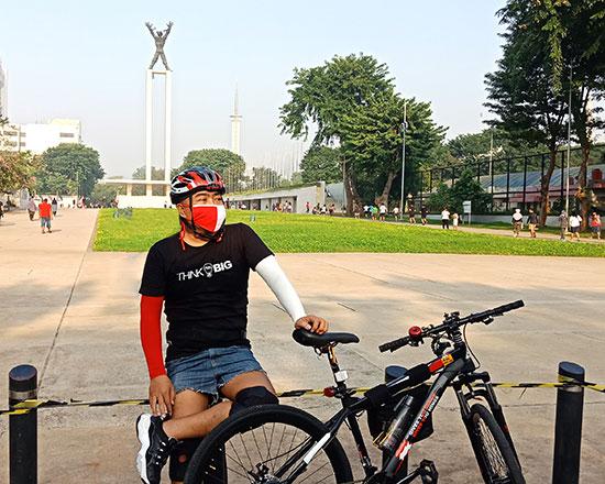Wisata gowes bersepeda di Jakarta