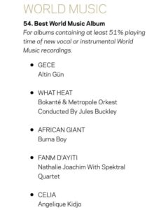 "Burna Boy Bags Grammy Award Nomination with ""African Giant"""