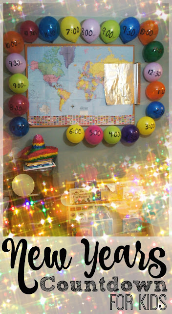 EPIC New Years Countdown for Kids - such fun, clever ideas for children and families to countdown in an EPIC way while learning about time zones and other countries!