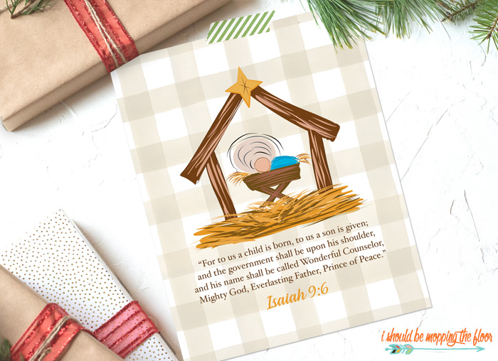 Free Baby Jesus in a Manger Printable