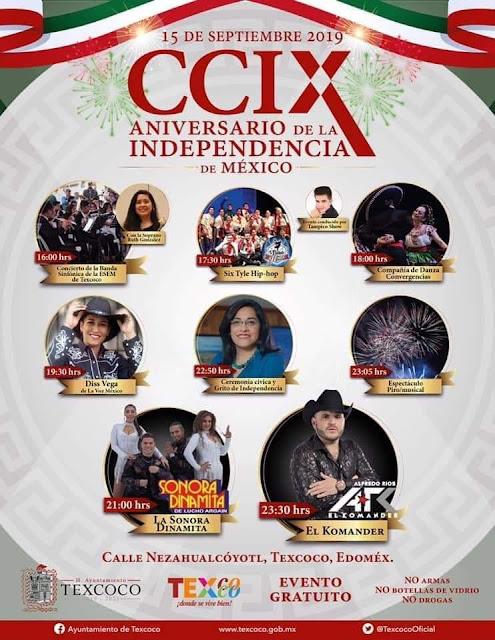 programa fiestas patrias texcoco 2019