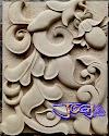 Relief ukiran batu alam putih sederhana yang sangat indah dan cantik