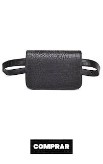 Bolso de piel sintética para mujer, diseño de cocodrilo, color negro