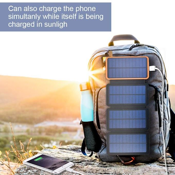 AMAZON- 50%off Solar Charger 12000mAh Outdoor Portable Power Bank