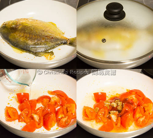 Golden Pomfret in Spicy Tomato Sauce Procedures