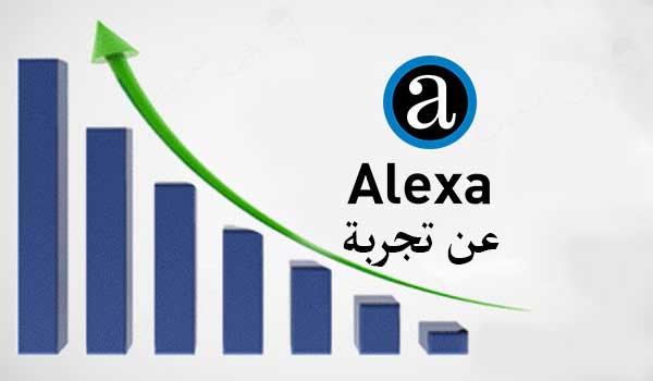 تخفيض ترتيب موقعك في alexa