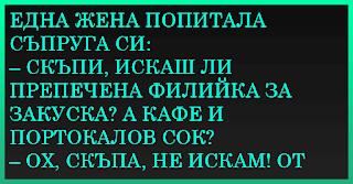ВИЦОВЕ ~ Една жена попитала съпруга си