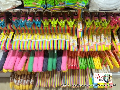 colorful hangers at Daiso