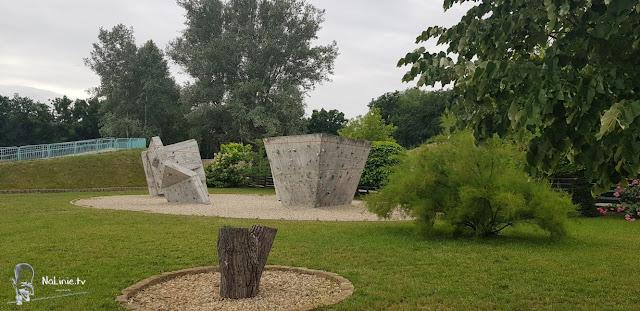 Park Krasnala Nowa Sól ścianki bulderingowe