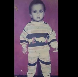 Childhood Pic of Nitin Chandila