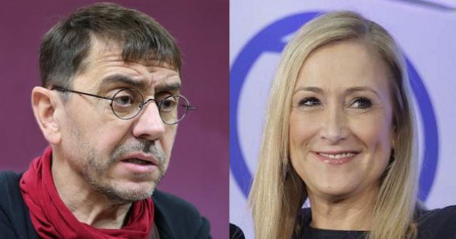 Juan Carlos Monedero pone en su sitio a Cristina Cifuentes apoyada por Ana Rosa