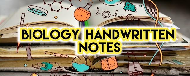 Biology Handwritten Notes Free PDF Download