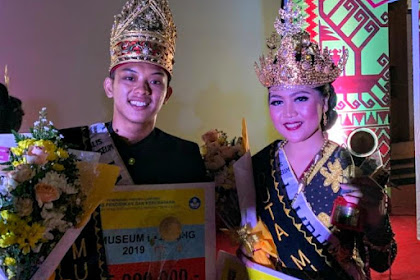 Alfpinka Mutia dan Andryan Marcellino Juara Duta Museum Lampung 2019