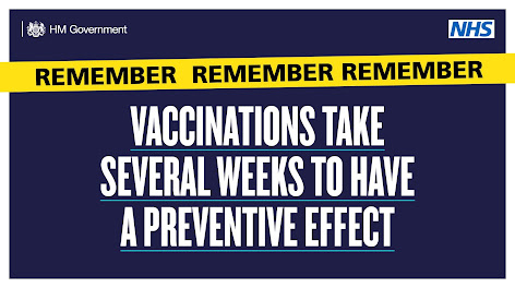 vaccinations take time to take effect - bold text