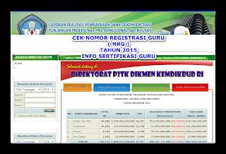 CEK KARTU NRG SECARA ONLINE TAHUN 2015