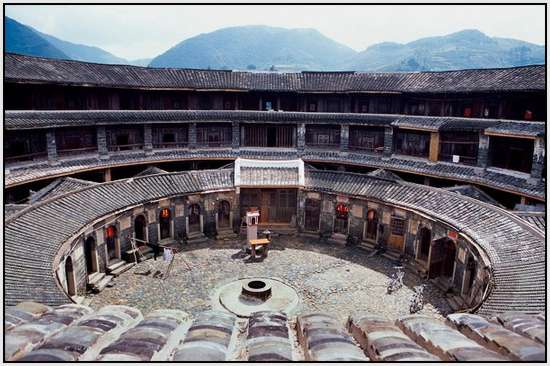 Rundhaus Fujian Tulou Ancient Houses In China: Most Beautiful