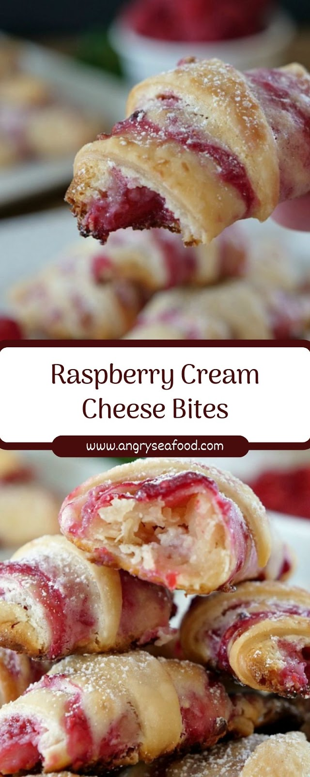 Raspberry Cream Cheese Bites