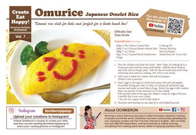 Omurice Recipe Card