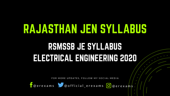 Rajasthan JEN Syllabus for Electrical Engineering with Pdf Download - ErExams - Engineering Exams Guidance RSS Feed  IMAGES, GIF, ANIMATED GIF, WALLPAPER, STICKER FOR WHATSAPP & FACEBOOK