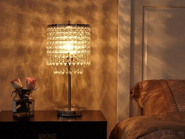 تيبل لامب كريستالي لغرف النوم موديل 2020