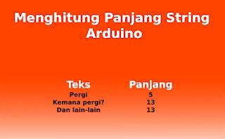 Cara Menghitung Panjang String Arduino atau Jumlah Karakter