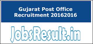 Gujarat Post Office Recruitment 2016