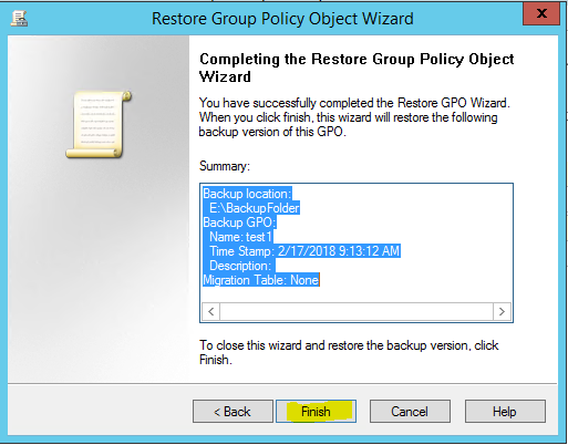 MVP Blog: How to backup and restore GPO settings