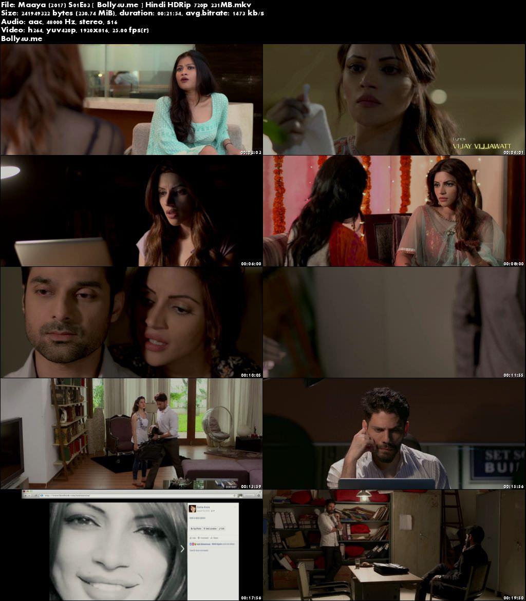 Maaya 2017 S01E03 Web Series HDRip 200MB Hindi 720p Download