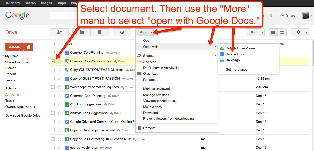 hub docs how to configure google drive