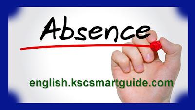 Absence-English-Grammar