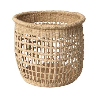 open weave sea grass storage basket
