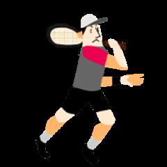I love tennis! A moving tennis player