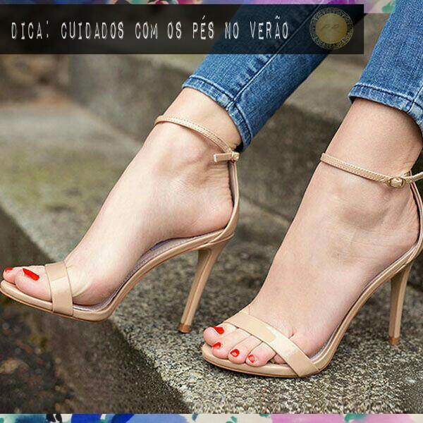 Cuidados com os pés no verão