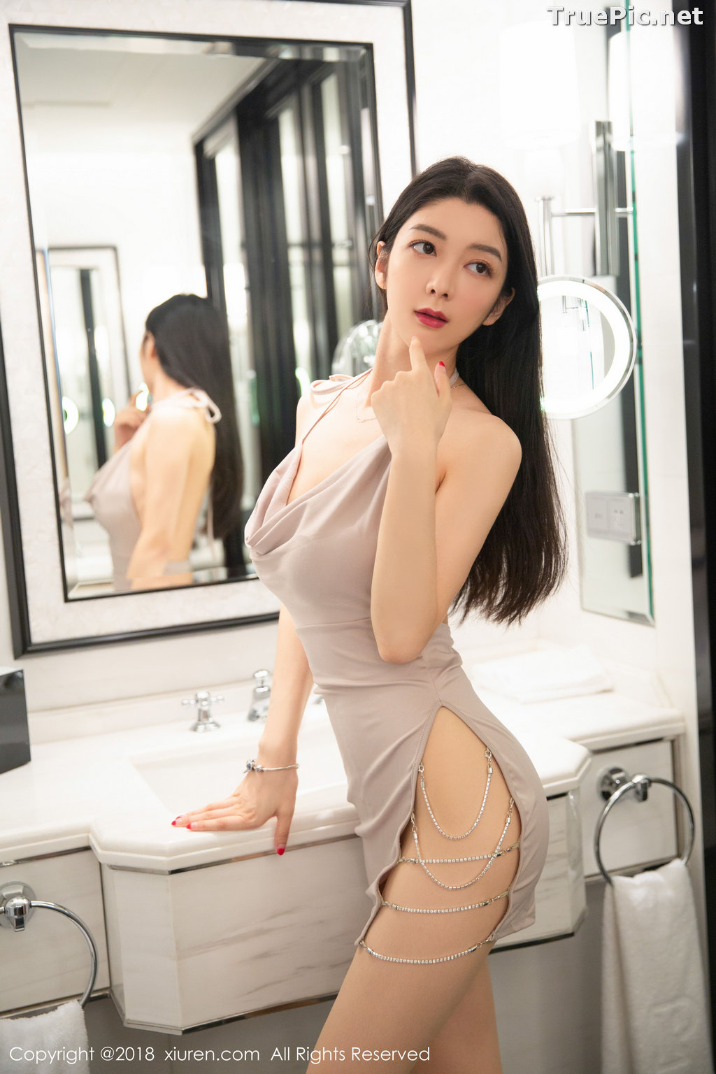 Image XIUREN No.1141 - Chinese Model - Xiao Reba (Angela小热巴) - Sexy Dress Tonight - TruePic.net - Picture-26