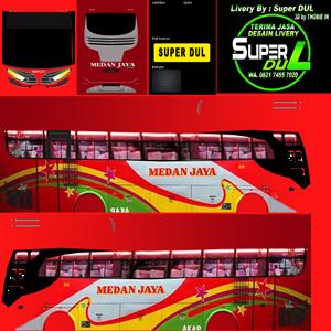 Livery Medan Jaya Old Merah