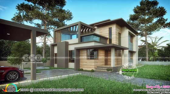 ₹45 lakhs cost estimated contemporary 4 bedroom home