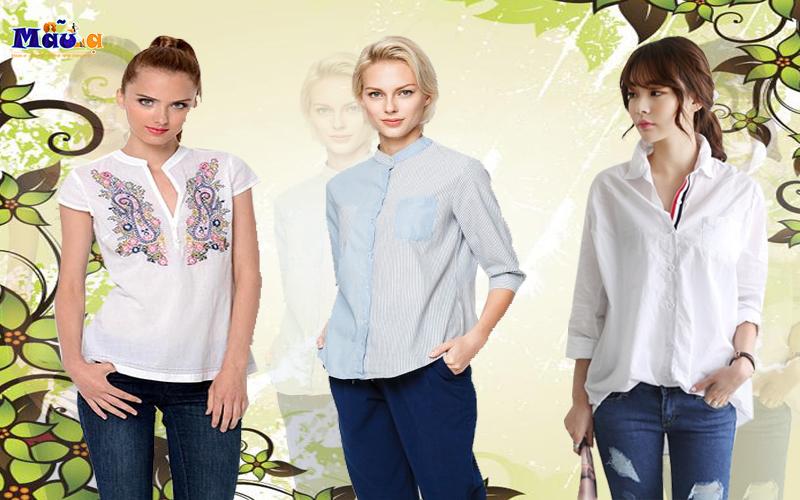 Những mẫu áo đẹp tăng thêm phần duyên dáng cho phụ nữ