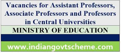 Vacancies in Central Universities