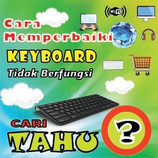 Cara mengatasi keyboard yang tidak berfungsi dengan sangat mudah