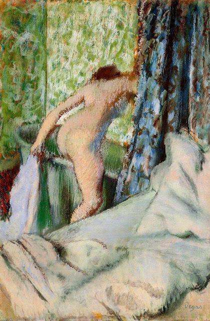 Эдгар Дега - Утреннее купание (1890)