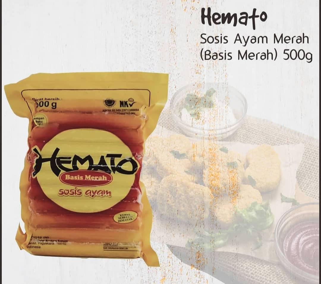 Sosis Ayam Merah Merk Hemato 500 Gram