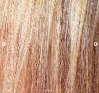 Garnier 100% Ultra Blond Décolorant Soin Nutritif déjaunissant. Jusqu'à 8 niveaux d'éclaircissement. Mes cheveux après la 1ère décoloration, ils sont roux blonds clairs avec mèches blondes dorées.