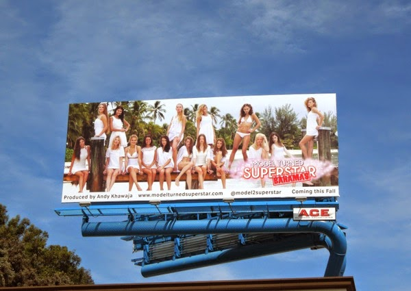 Model Turned Superstar Bahamas billboard