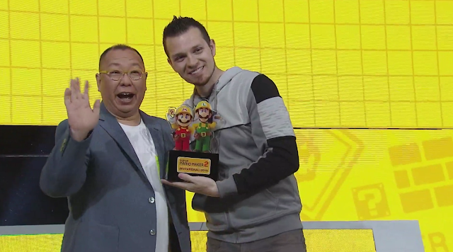 Super Mario Maker 2 Invitational Abdallah wins trophy Tezuka Nintendo producer