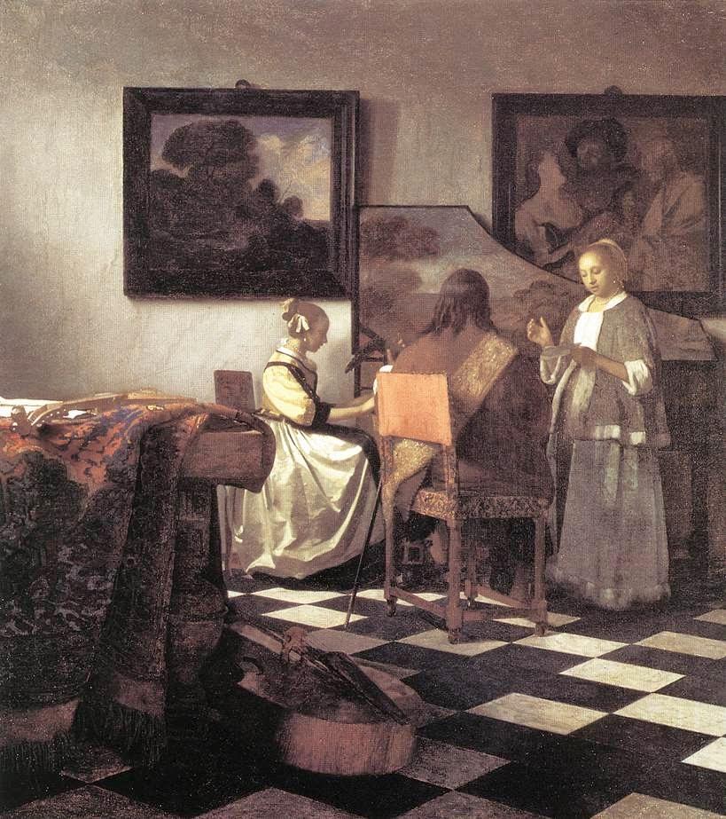 O Concerto - Vermeer, Jan e suas principais pinturas