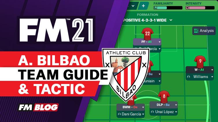 FM21 Athletic Bilbao 4-2-3-1 Vertical Tiki-Taka Tactic   Team Guide