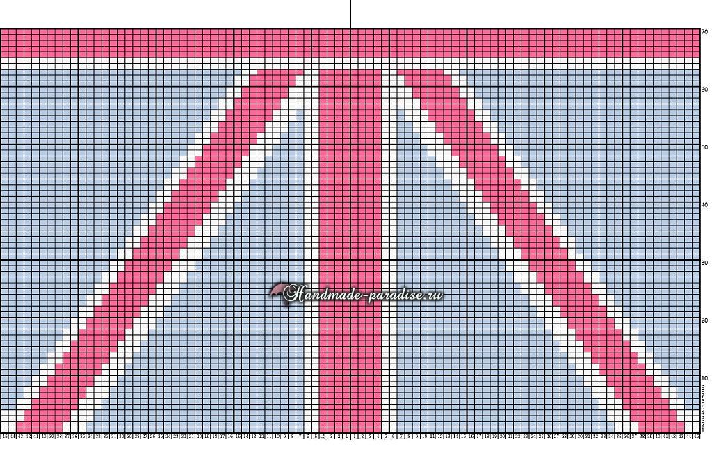 Схема вязания Британский флаг (2)